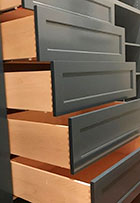 Dovetail drawers for custom laundry room