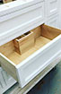 Custom millwork vanity with u-shaped drawer dovetail drawer