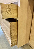 Logo engraving adds a custom touch to your dovetail drawer