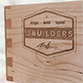 Custom dovetail drawer with laser engraved logo