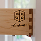 Custom laser engraved dovetail drawer